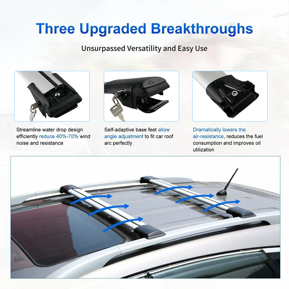 Roof Luggage Baggage Rack Cross Bar Carrier For Nissan ...