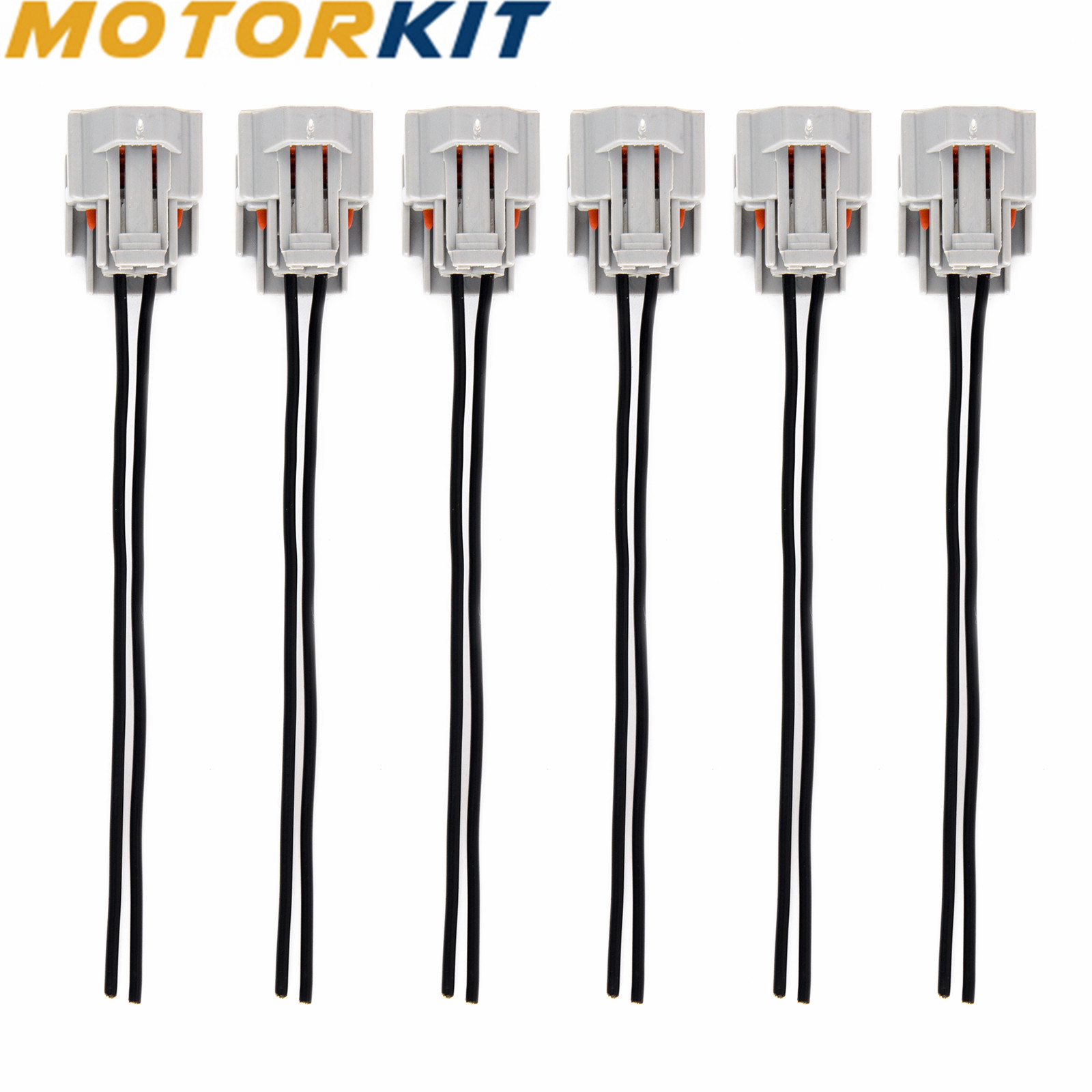 6x High Impedance Female Fuel Injector Connector Electrical Plug Pigtail